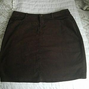 Cindra Brown Corduroy Skirt